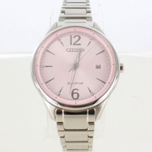 CITIZEN WOMEN'S STAINLESS STEEL PINK DIAL WATCH